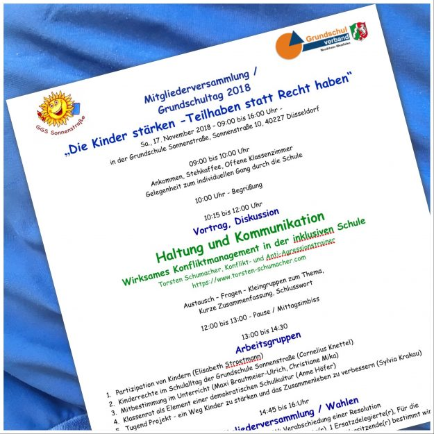 Mv Grundschultag 2018 Programm Grundschulverband Nordrhein