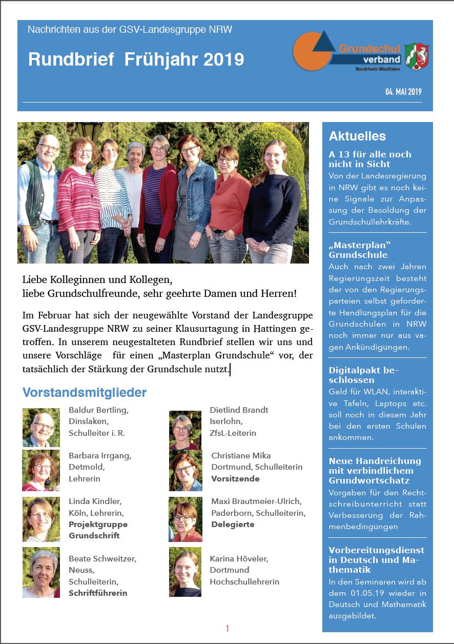 Grundschulverband Rundbrief 05 2019